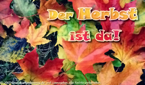 Das Herbst ist da!