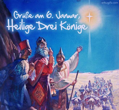 Grüße am 6. Januar, Heilige Drei Könige