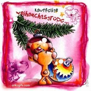 Knuffelige Weihnachtsgrüße