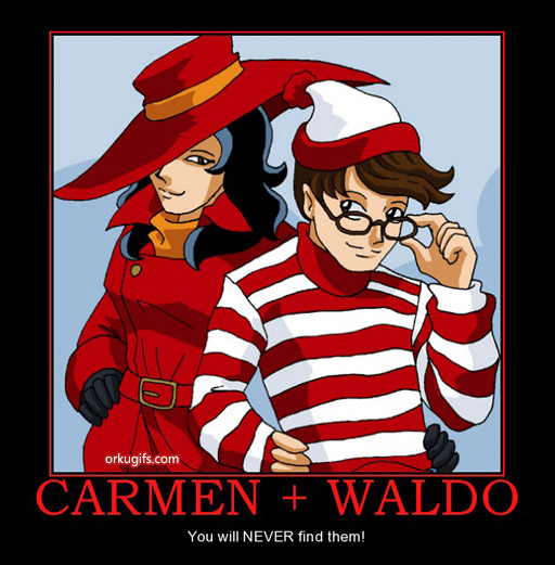 Carmen Sandiego + Waldo: You will never find them! - Images and gifs for social networks