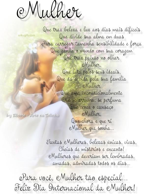 Feliz Dia Internacional da Mulher - Recados e Imagens para orkut, facebook, tumblr e hi5