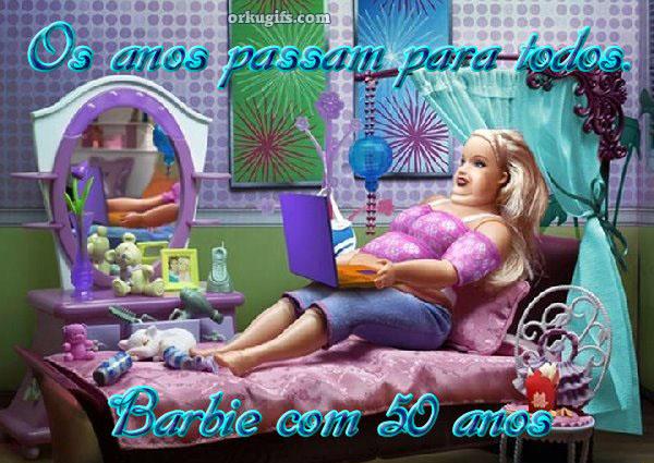 Os anos passam para todos. Barbie com 50 anos