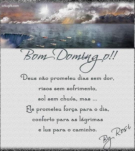 Deus no prometeu dias sem dor,