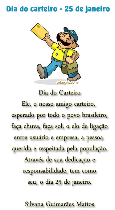Dia do Carteiro - 25 de Janeiro