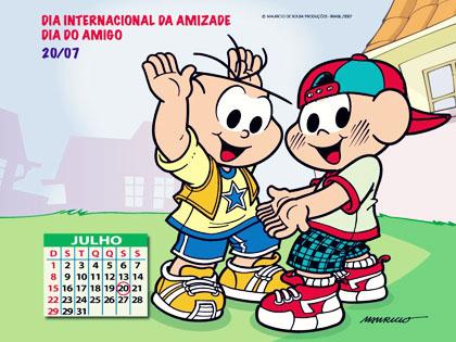 Dia Internacional da Amizade - 20 de Julho - Recados e Imagens para orkut, facebook, tumblr e hi5