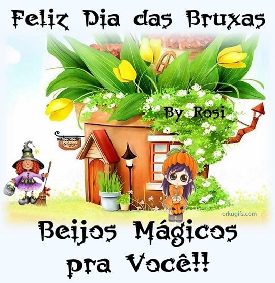 Feliz Dia das Bruxas. Beijos Mágicos pra você!